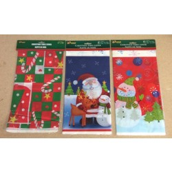 "Christmas Plastic Tablecover ~ 54"" x 108"""
