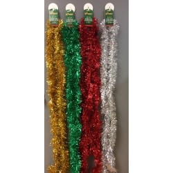 "3.5"" x 9' Tinsel Garland - 4 Ply ~ 4 colors"