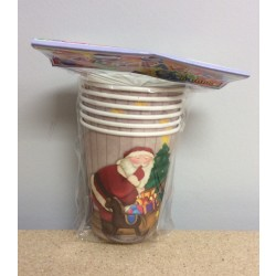 Christmas Paper Cups - 9oz ~ 6/pk