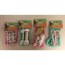 Christmas Play'n Chew Rawhide Dog Stocking