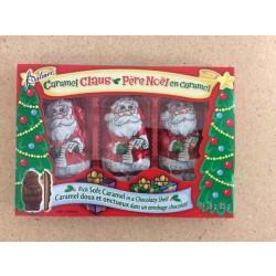 "Palmer's Chocolate ""Caramel Claus"" - 3/pk ~ 85gr"