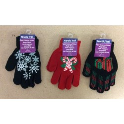 Christmas Adult Printed Magic Gloves