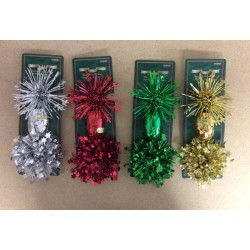Christmas Foil Bow & Ribbon Pack ~ 4 colors