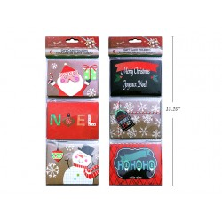 Christmas Paper Gift Card Holder ~ 6 per pack