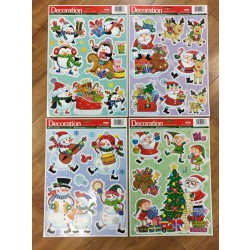 Christmas Holographic Window Clings ~ 4 assorted