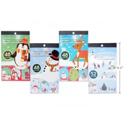Christmas Foil Peel & Stick Gift Tags - Booklet Style ~ 48 per pack
