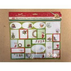 "Christmas Peel Off Gift Tags ~ 9 x 12"" sheet"