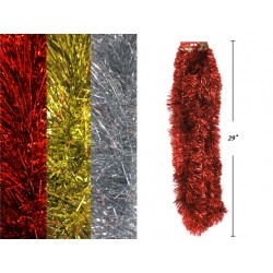 "Christmas Foil Tinsel Garland ~ 5"" x 9' x 6 ply"