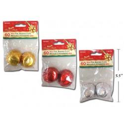"Christmas Foil Baking Cups - 1""D ~ 60 per pack"