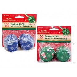 "Christmas Mini Baking Cups - 1.25""D ~ 100 per pack"