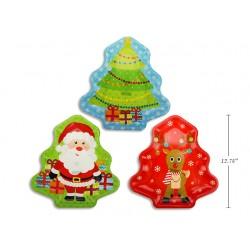 """Christmas Tree Die-Cut Printed Tray ~ 12.75"""""""