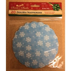 "Christmas Grease Proof Printed Paper Doilies - 6"" ~ 20 per pack"