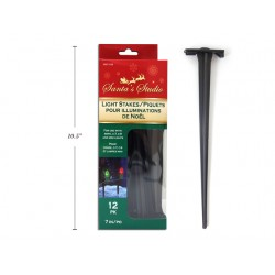 """Christmas Outdoor Light Stakes - 7""""L ~ 12 per pack"""