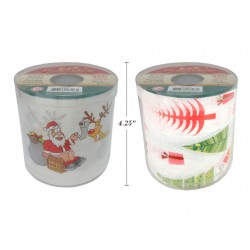 Christmas Printed Toilet Paper ~ 2/ply, 300 sheets/roll