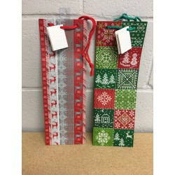 Bottle Christmas Gift Bag ~ Ugly Sweater