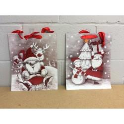 Large Christmas Gift Bag ~ Santa Suit w/Glitter