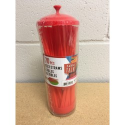Christmas Flex-Straw in Dispenser ~ 70 pieces