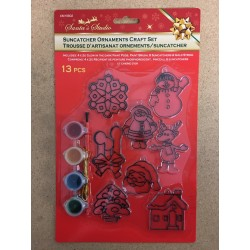 Christmas Suncatcher Ornaments Craft set ~ 13 piece set