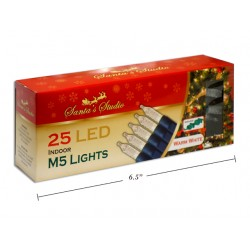 Christmas Indoor LED M5 String Lights - Warm White ~ 25pk / 5'