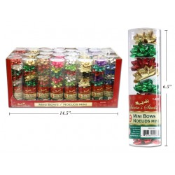 "Christmas Mini Gift Bows - 1.625"" ~ 9 per pack"