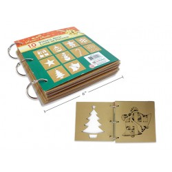 Christmas Stencil Book ~ 10 Designs