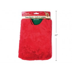 Christmas Mini Tree Deluxe Red Plush Tree Skirt ~ 20""