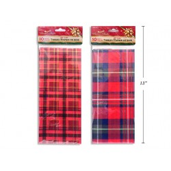 Christmas Plaid Tissue Paper ~ 10 sheets