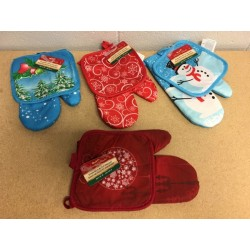 Christmas Oven Mitt & Pot Holder ~ Set of 2