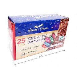 Christmas In/Outdoor LED C9 String Lights - Multi ~ 25/pk / 24'