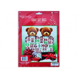 "Christmas Giant Plastic Gift Bags - 28"" x 36"" ~ 2 per pack"