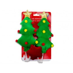 Christmas Deluxe Velvet Xmas Tree Car Decoration Set