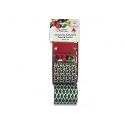Christmas Printed Packing Tape with Holder - 3 rolls ~ 4m x 5cm