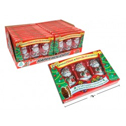 Christmas Caramel Claus - Foil Covered ~ 3 per pack / 85g box