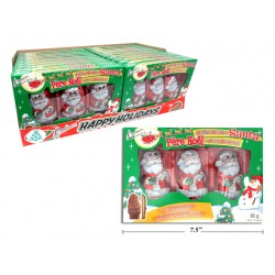 Christmas Peanut Butter Santa - Foil Covered ~ 3 per pack / 85g box