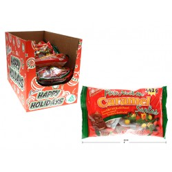 Christmas Soft Caramel Filled Chocolate Santa - Foil Covered ~ 142g bag