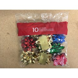 "Christmas Small Gift Bows - 2.25"" ~ 10 per pack"