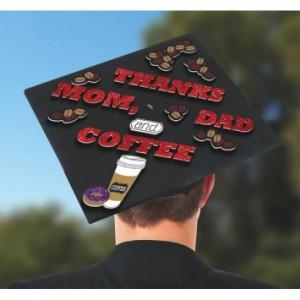 Grad Cap Decorating Kit ~ Thanks Mom, Dad & Coffee