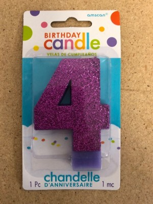Red Party Supply Amscan 170401 #5 Glitter Birthday Candle