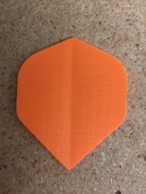Nylon Long Life Flights ~ Neon Orange Standard