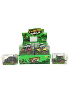 Mini Die-Cast Farm Tractor with Pull Back Action