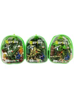 Military Soldiers Play Set in Carry Bag ~ 3 assorted