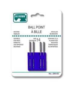 Ball Point Sewing Machine Needles - Size 14 ~ 4 per pack