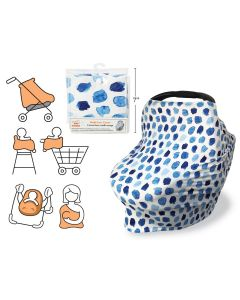 Tootsie Baby Multi-Use Cover ~ Blue Dots