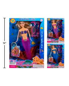 """13"""" Mermaid Doll with Lights & Accessories"""
