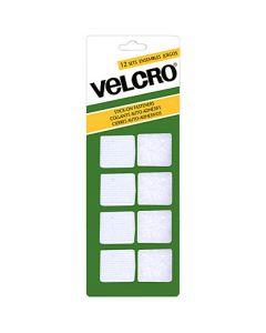 Velcro Stick On Fasteners - Squares ~ White