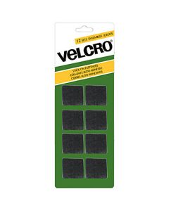 Velcro Stick On Fasteners - Squares ~ Black