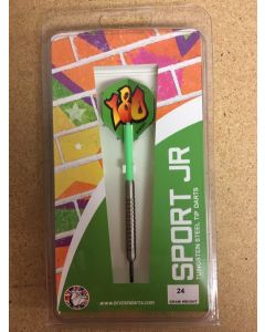 Sport Jr. Ringed Darts ~ Neon Green - 28gram only