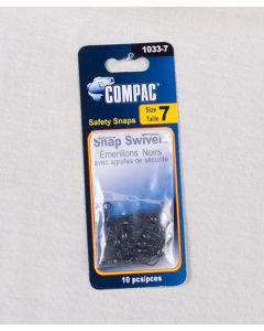 Compac Black Barrel Swivel w/Safety Snaps