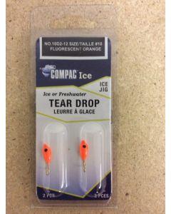 Tear Drops - Size 10 ~ Fluorescent Orange