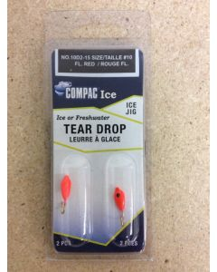 Tear Drops - Size 10 ~ Fluorescent Red